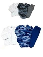 Set 3 Pieza Saquito Body manga larga y pantalon con pie Picolo