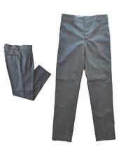 A103 GRIS PANTALON SARGA COLEGIAL Talle: 2-4 CON PINZAS. Talle 6 en adelante SIN PINZAS. SU ROGER