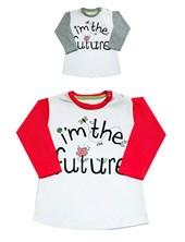 REMERA MANGA LARGA RANGLAN BEBA ESTAMPADA IM THE FUTURE BABY CHEITO