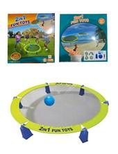 JUEGO 2 EN 1 FRISBEE GAME + VOLEY BEACH  FUN TOYS
