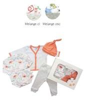 SET 4PS: ALGODON BODY ML+CARDIGAN+RANITA+GORRITO. BABY SKIN