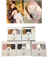 30M0100 SE X3 MANTA MUSELINA ROSA/NATURAL/GRIS CLARO HAPPY LITTLE MOMENTS