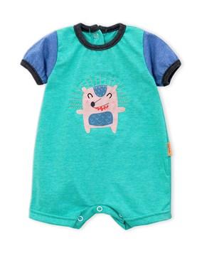 enterito jersey rayado combinado bebe premium