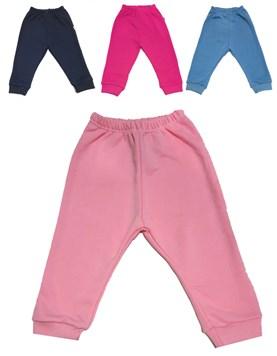 Pantalon largo bebes con puño. Liso Linea Rustico. Colores surtidos. Gamise.