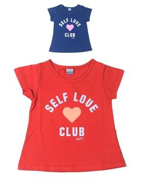 REMERA M/C NENA ESTAMPADA SELF LOVE CLUB. GEPETTO