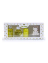 Estuche Miniautura . 0 a 1. Colonia 35ml,   Shampoo 35ml,   Crema de enjuague 35ml,  ,  Jabon Pato x40gr. Petit Enfant.